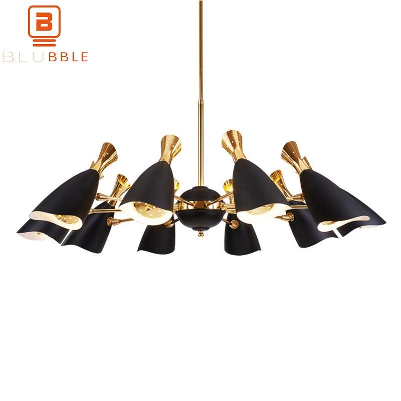 BLUBBLE 6/8/10/12 Têtes Pendant Lights Nordique AC 90-260 V lampe suspendue en métal Postmodernisme Simple originalité Chambres Hanglamp