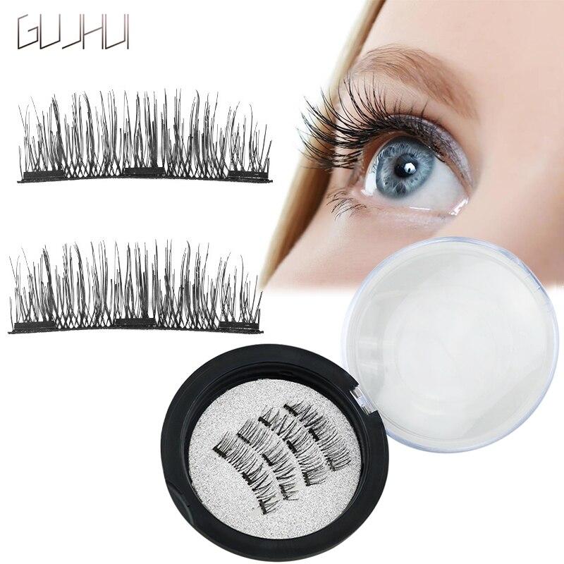 3D Магнитная ресницы с 3 магниты ручной работы lashes natural накладные ресницы магнит ресницы 4 шт. комплект макияж глаз 30