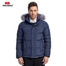 купить MALIDINU 2019 Men Duck Down Jacket Brand Winter Down Coat Real Fox Fur Mens Down Parka Coats For Men Outwear European Size -30C дешево