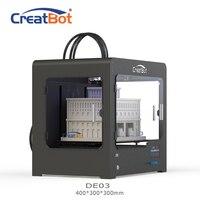 DE03 400*300*300 мм 400 градусов тройной экструдер creatbot 3d принтер большой Размеры FDM 3D машины полузамкнутые оригинального производителя