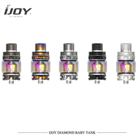 Original Ijoy Diamond Baby Tank Electronic Cigarettes Atomizers 4ml Big Capacity 0.18ohm DMB Mesh Coil VS SMOK TFV12 Prince