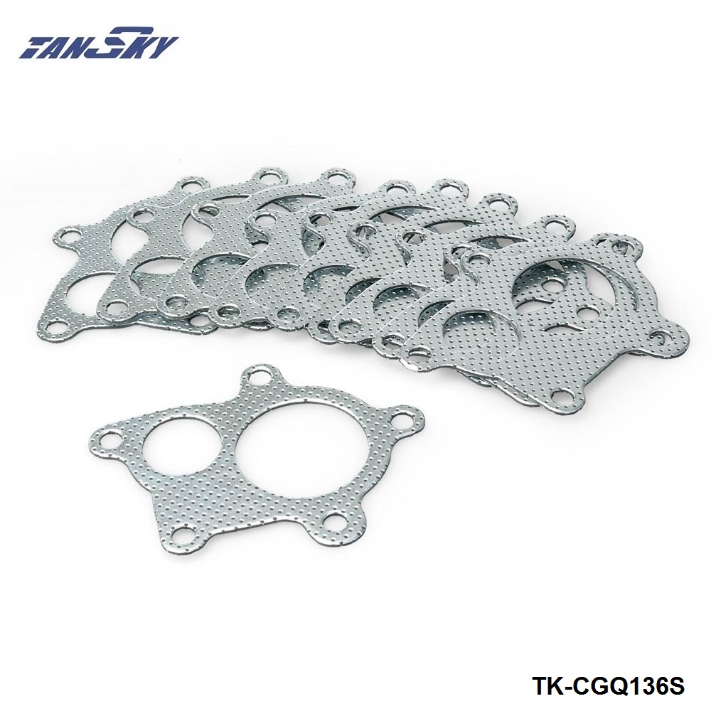 10PCS 5Bolt T3 T4 GT35 GT35R Turbo Gasket Fit Turbo