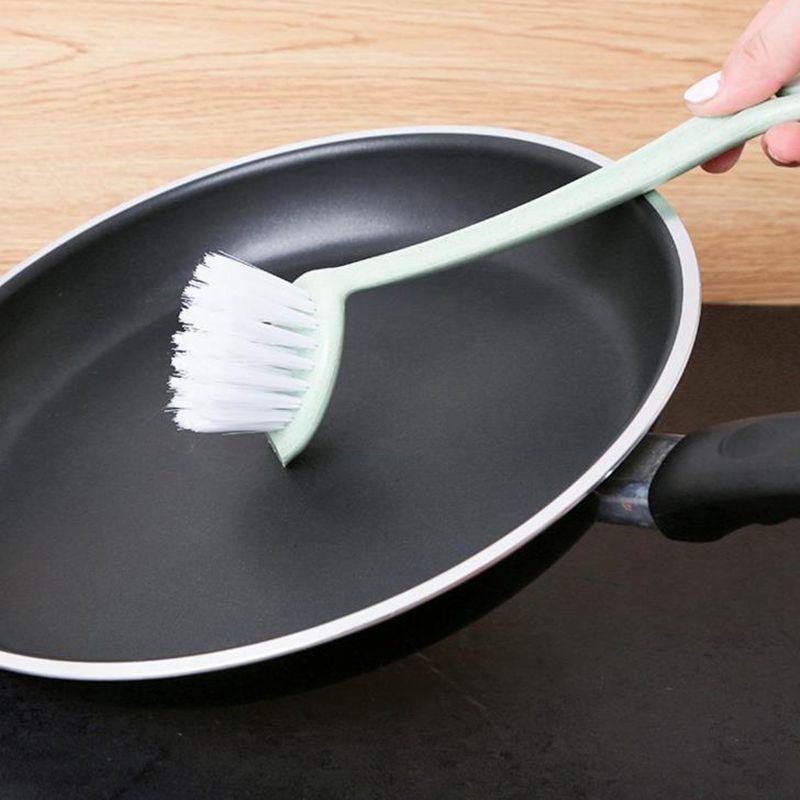 Urijk Colors Random Straws Wash Pot Brush Long Shank Brush Cooker Small Cleaning Brush Kitchenware Dishwasher Kitchen Tools