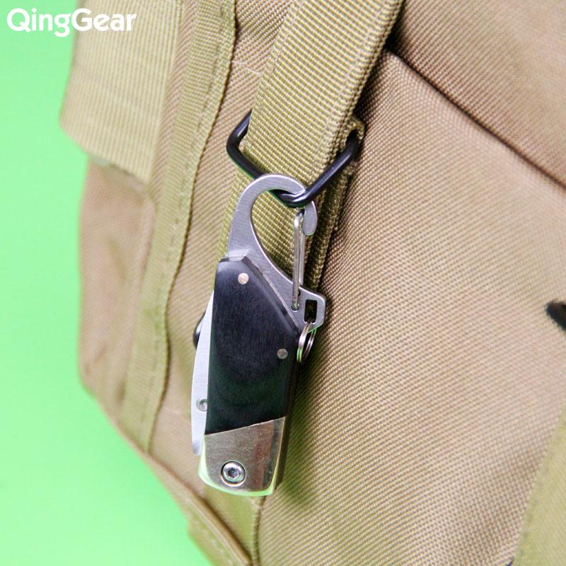Coltello portachiavi pieghevole QingGear con manico in ottone rame - Utensili manuali - Fotografia 5