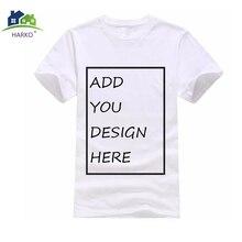 HARKOCotton camiseta personalizada su propio logotipo de la marca de imagen Tops  camiseta de encargo único fa90e3b0e9af4
