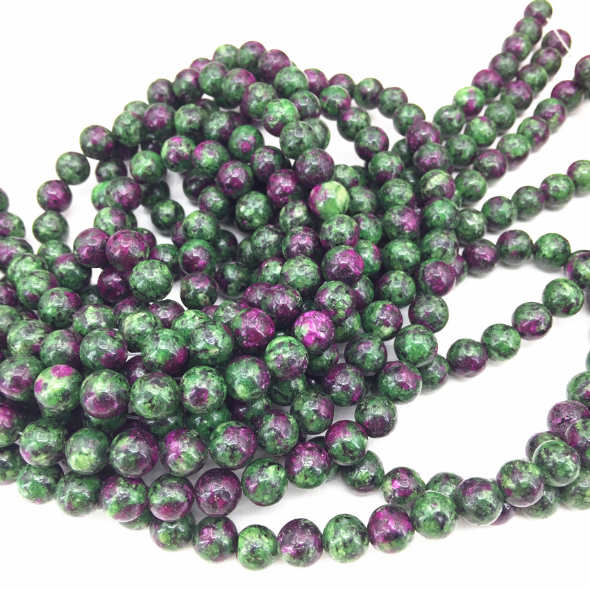 Aliexpress.com : Buy 2 type faceted / round red green Zoisite ...