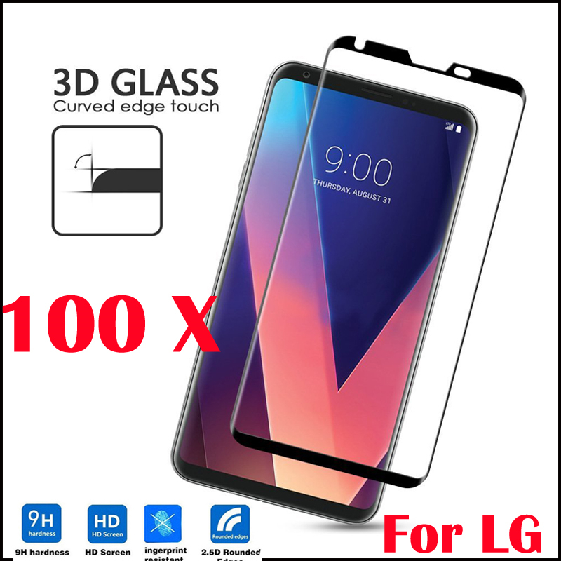 100pcs 3D Curved Full Coverage Tempered Glass Film 9H LCD Safe Guard Anti-explosion Toughened Screen Protector for LG K7 K8 K10
