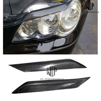 High quality Carbon fiber Car body Front Headlight Eyebrows Car Styling For Toyota Reiz 2005-2009