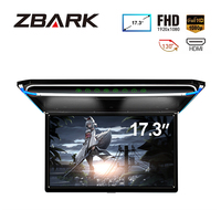 17.3 Monitor 1080P Video HD Digital TFT Screen Wide Screen Ultra thin Mounted Car Roof Player HDMI IR FM USB SD NO DVD