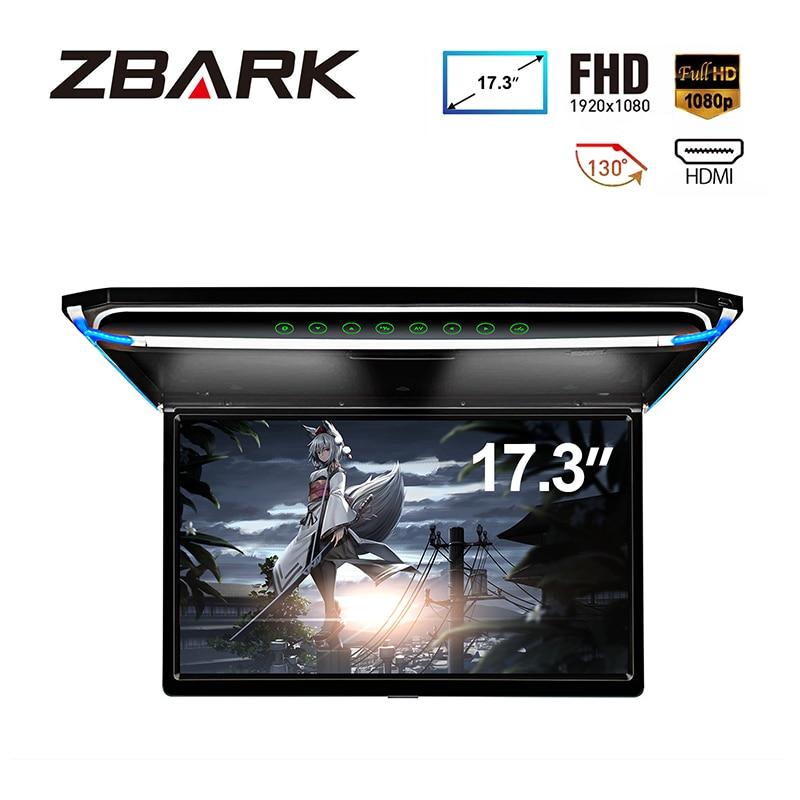 17.3 Monitor 1080P Video Hd Digitale Tft Screen Breedbeeld Ultra Dunne Gemonteerde Auto Dak Speler Hdmi ir Fm Usb Sd Geen Dvd