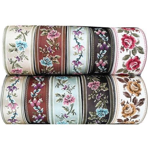 1 M Colorful Fiore Del Merletto Del Tessuto Abito Da Sposa In Pizzo Applique Filo D'oro Ricamo di Pizzo Accessori Assetto HB03