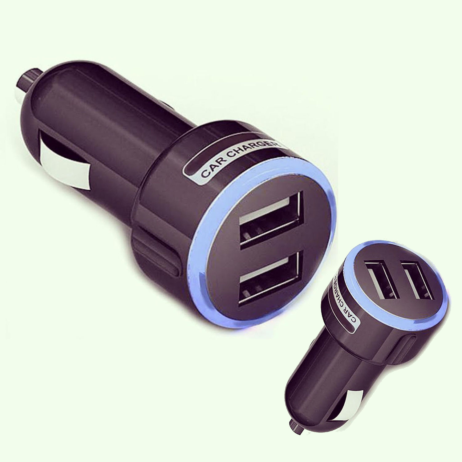 Colored usb car charger - High Quality 2 Port Dual Universal Usb Car Charger Color Blue For Smart Phone Fc
