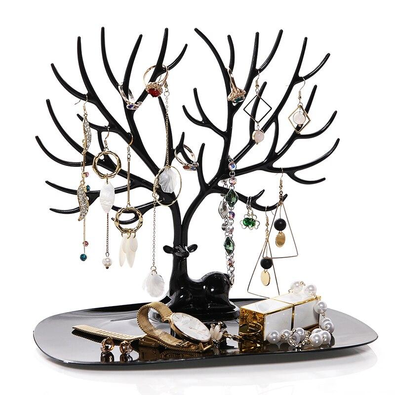 ANFEI Kleine Rotwild Ohrringe Halskette Ring Anhänger Armband Schmuck Display Stand Tablett Baum Lagerung Racks Organizer Halter H39