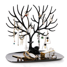 ANFEI Little Deer Earrings Necklace Ring Pendant Bracelet Jewelry Display Stand Tray Tree Storage Racks Organizer Holder H39(China)