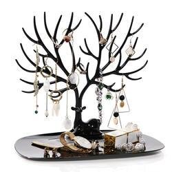 ANFEI маленькие серьги с оленями Цепочки и ожерелья кольцо ювелирные браслеты и кулоны Дисплей Стенд Лоток для хранения дерева стеллажи