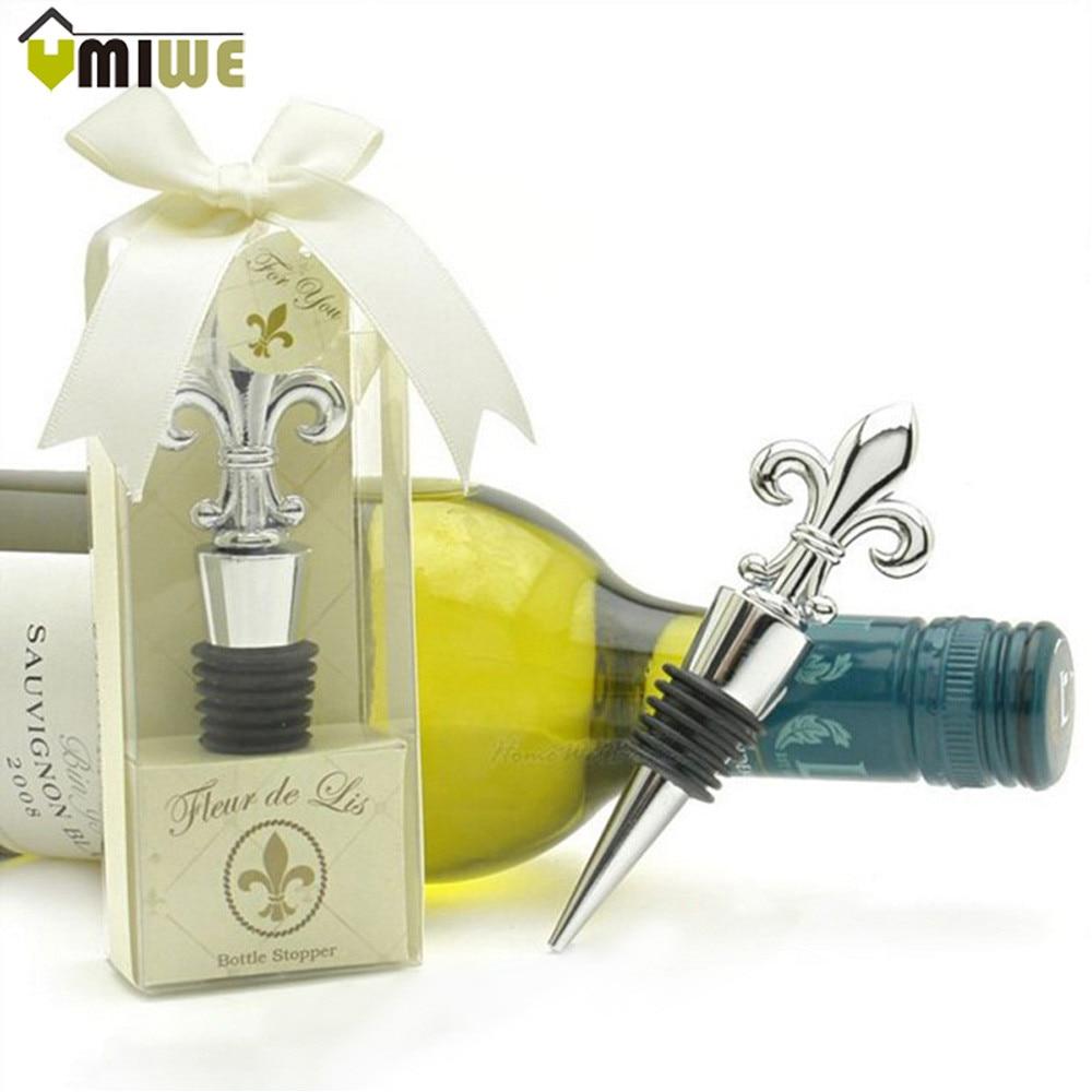 ᗛChampagne Red Wine Bottle Stopper Wedding Favors Gift Box ...