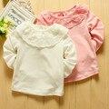 Cordón de La Muchacha Blusas y Camisas Mamelucos Del Bebé Princesa de Las Muchachas del Algodón Del Mameluco Infantil roupas de bebe general del niño y ropa de los cabritos