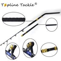 130LBS 6'6 boat rods Boat fishing rod BlueSpear alu butt 5+1 roller guide trolling fishing rods
