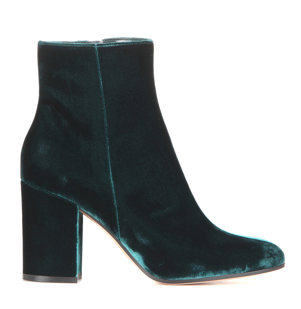 black green Velvet vintage boots high quality Thick heel ladies shoes round toe high heels riding boots Europe size 45 pumps цена