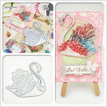 ZhuoAng Cartoon two little swan design metal cutting mold scrapbook album relief embossed DIY paper card making decorative