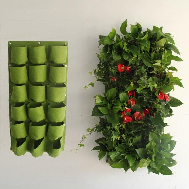 plantes suspendues sac avec 18 pots de verdissement vertical plantes jardin balcon suspendu. Black Bedroom Furniture Sets. Home Design Ideas