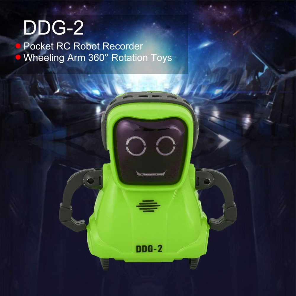 DDG-3 DDG-2  Intelligent Smart Mini Pocket Voice Recording RC Robot Recorder Freely Wheeling 360 Rotation Arm Toys for Kids Gift 3
