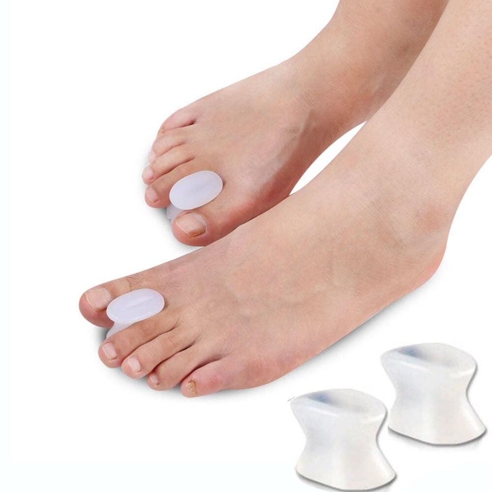 1 Pair Toe Separators Spacer Straightener Thumb Finger Big Feet Device Pad Toe Pads Thumb Valgus Corrector Relief Foot Bunion
