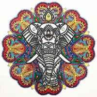 1Set Elefanten 5D Spezielle Förmigen Diamant Malerei Stickerei Hand Strass Kristall Kreuz Handwerk Stich Kit DIY Decor