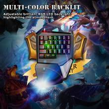 Delux T9 Plus 29 Keys Programmable Mechanical One/Single Hand USB Wired LOL DOTA 2 Esport Gaming Keyboard RGB LED Backlit light