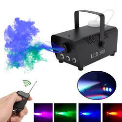 Диоды с беспроводным управлением 500 W машинка для дыма пульт RGB цвет выталкиватель дыма светодиодный DJ прожектор для вечеринок дым метатель