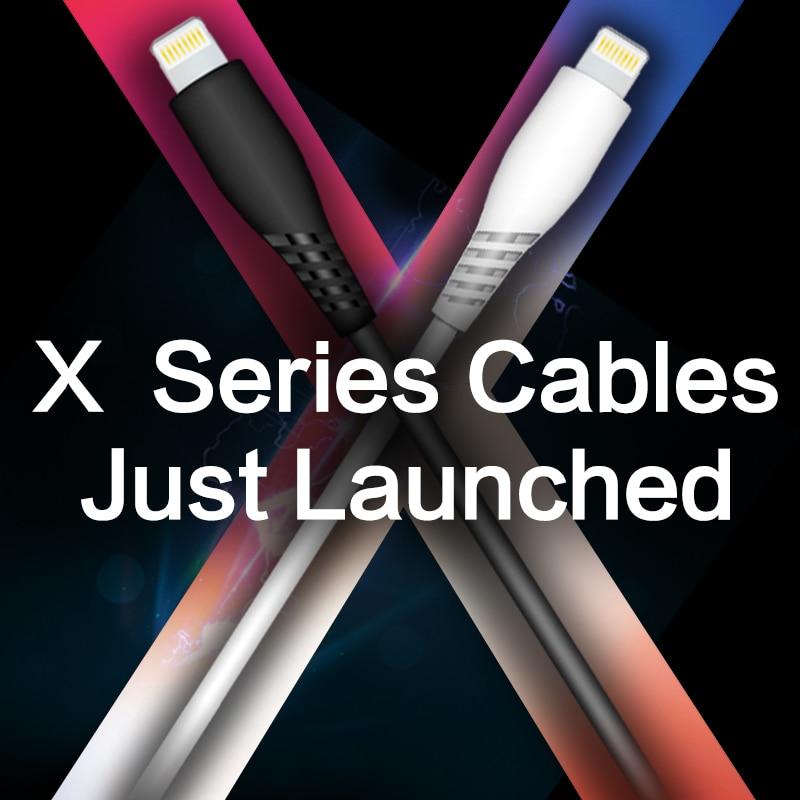 Snowkids MFi para Lightning a USB Cable para iPhone 7 6X8 5 plus iPad mini cargador de sincronización de datos Compatible con hasta iOS12 del Banco de la batería