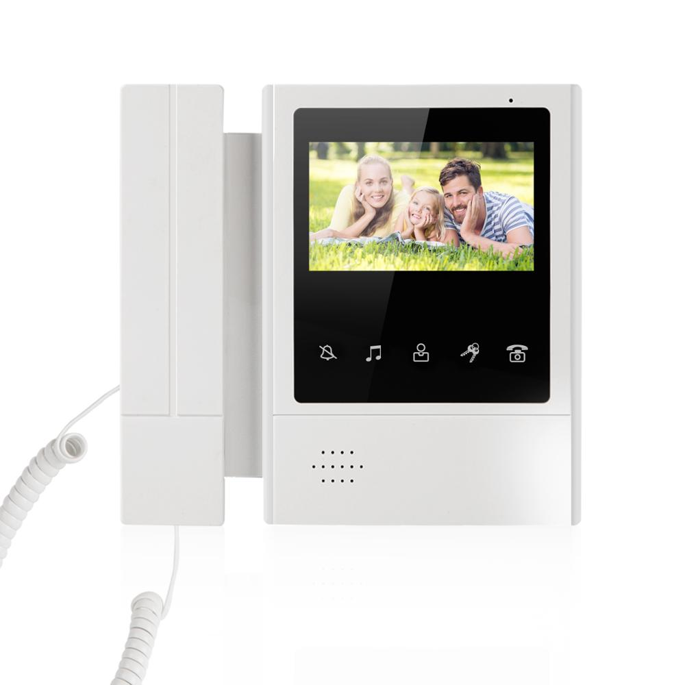 4.3 Inch Wired Video Door Phone System Visual Intercom Doorbell With 1 Monitor+1*700TVL Outdoor Camera For Home Surveillance