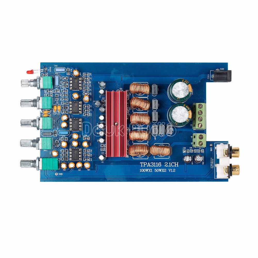 Hi-Fi 2.1 Channel Audio Power Amplifier Stereo Amp Board 2*50W+100W Subwoofer все цены