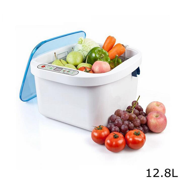 все цены на 12.8L Home application Ultrasonic Ozone Vegetable and Fruit Sterilizer tank cleaner with time control KD-6001 100W 40KHZ онлайн