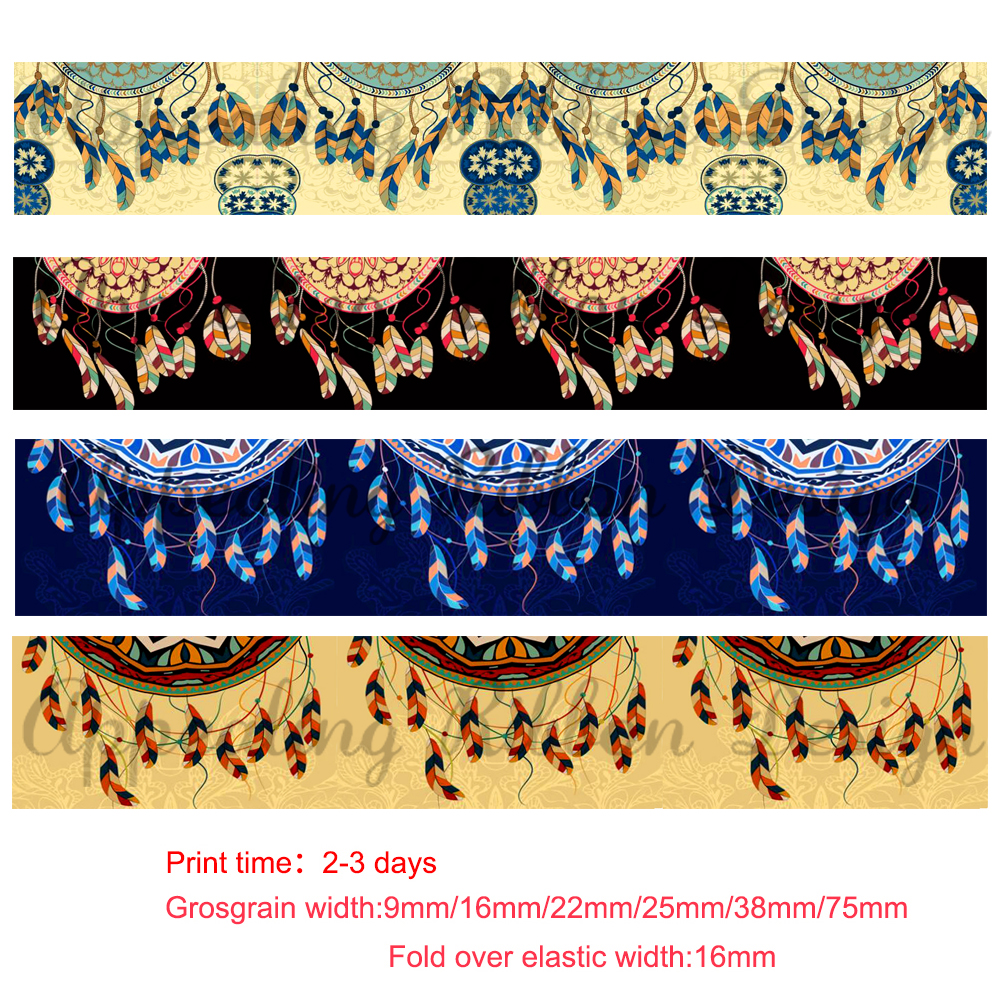 Crafts 22mm Patterned Grosgrain Ribbon 1m Sewing
