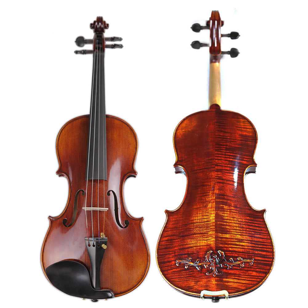 Italy Master Hand-made Carved Maple Violin Naturally Flamed Customized Antique Violino 4/4 w/ Full Accessories TONGLING Brand image