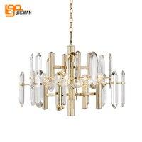 brief design crystal chandeliers modern LED lamp AC110V 220v lustre dinning room living room kristal kroonluchter