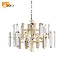 modern crystal chandeliers foyer lights AC110V 220v lustre dinning room kristal kroonluchter
