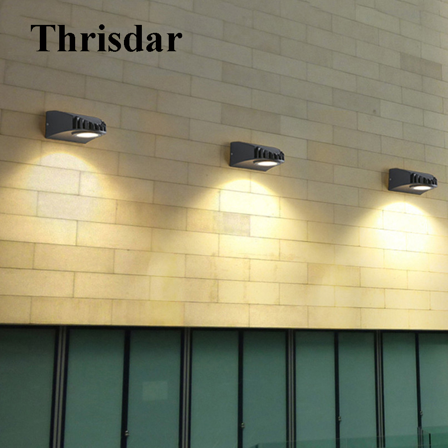 Thrisdar 5W Outdoor Villa Porch Wall light Wateroof Garden Corridor Aisle Wall Light Waterproof Villa Fence Patio Wall Light