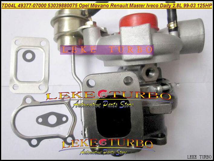 TD04L 49377-07000 53039880075 53039880034 53039700034 454126 Turbo For IVECO Daily For OPEL Movano Master 99- 8140.43S.4000 2.8L  цены