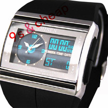 Digital LED Date Rubber Sport Waterproof Mens Boy Wrist Watch #3336 Brand New High Quality Luxury Free Shipping