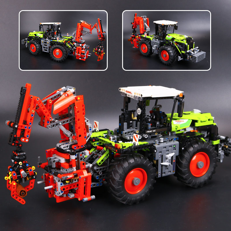 IN STOCK New 1977Pcs Lepin 20009 Technic Ultimate Series Mechanical Heavy Tractors Building Blocks Bricks Toys 42054 2017 new lepin 20009 1977pcs technic claas xerion 5000 trac vc model building kits blocks bricks compatible toys gift with 42054