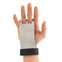 1 Pair M Size Leather Hand Guards Grips Leather Palm Protectors Gym Strength Training Glove Pull