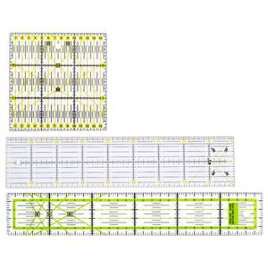 Sewing Ruler Quilting Cutting-Tool-Set Rulers-Patchwork Craft Yardstick Clear DIY 3pcs/Set