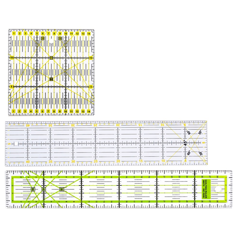 Quilting Ruler Quilters Craft Patchwork Square Rectangle Ruler Various Sizes!