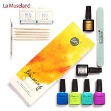 1Set=23Pcs, 4 Colors Sapphire UV Gel Nail Art Tools Sets Kits Nail Gel Nails Tools Nail Polish Kit #24008