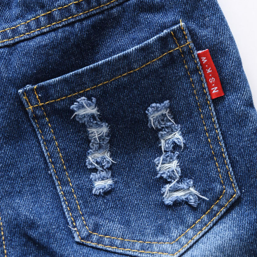 da67d83e52e Belababy Baby Trousers Pants 2018 Autumn Toddler Boys Red Rope Letter  Ornament Shredded Jeans Children's Cotton Causal Pants -in Jeans from  Mother & Kids on ...