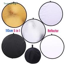 TRUMAGINE 110cm 5 in 1 Multi Portable Collapsible Light Round Photography/Photo light Reflector for Studio fotografia reflector
