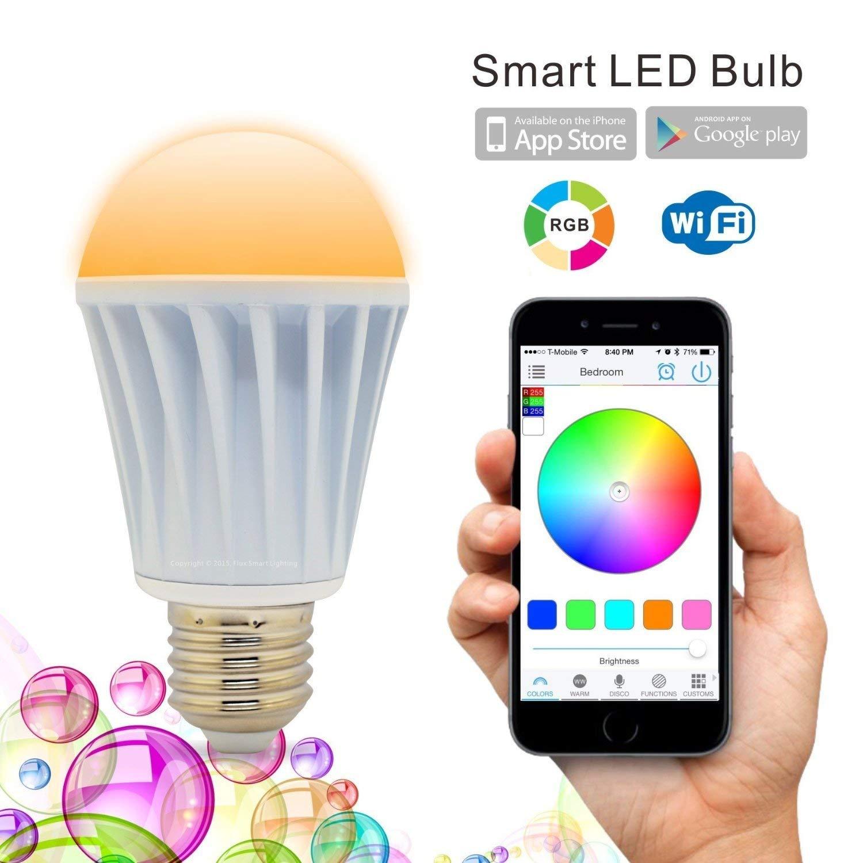 WiFi lumière de LED intelligente lampe ampoule E27 multicolore couleur changeante RGB Homekit Compatible avec Alexa, Google Home Assistant IFTTT