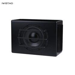 IWISTAO 8 inch Car Active Subwoofer DC12V 100W 45-150Hz 88Db Car Audio Subwoofer Modification Black
